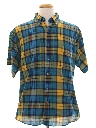 Mens Plaid Preppy Sport Shirt
