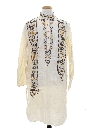 Mens Embroidered Guru Style Hippie Caftan Shirt
