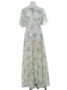 Womens Two Piece Prairie Style Hippie Dress