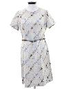 Womens A-Line Mod Knit Dress