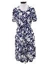 Womens Print Disco Dress