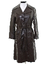 Womens Leather Trench Coat Jacket