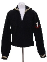 Unisex Wool Navy Sailor Shirt