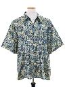 Mens Totally 80s Graphic Print Silk Sport Shirt