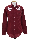 Mens Hippie Style Embroidered Western Shirt