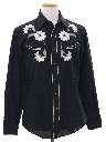 Mens Rodeo Style Embroidered Hippie Western Shirt