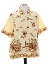 Mens Batik Ethnic Style Hippie Shirt
