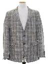 Mens Plaid Blazer Sport Coat Jacket