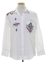 Mens Totally 80s Hippie Western Style Shirt