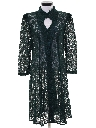 Womens Totally 80s Goth Lace Cocktail Dress