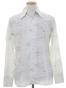 Mens Cotton Blend Print Disco Style Sport Shirt
