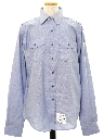 Mens Chambray Navy Issue Work Shirt