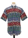 Mens Southwestern Graphic Print Shirt