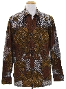 Mens Ethnic Hippie Style Sport Shirt