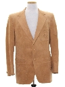 Mens Faux Leather Blazer Sportcoat Jacket