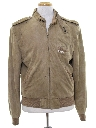 Mens Suede Leather Members Only Jacket