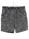 Unisex Totally 80s Acid Washed Baggy Shorts