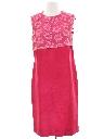 Womens Mod Silk Cocktail Dress