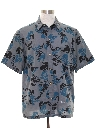 Mens Graphic Print Sport Shirt