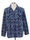 Mens Wool Board Style Flannel Shirt