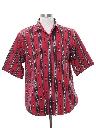 Mens Southwestern Geometric Print Western Shirt