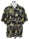 Mens Silk Tommy Bahama Hawaiian Shirt