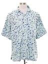 Mens Mod Retro Style Silk Sport Shirt