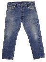 Mens Levis 501 Stone Washed Denim Jeans Pants