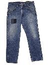 Mens Grunge Straight Leg Denim Jeans Pants