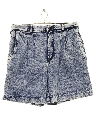 Womens Totally 80s Acid Washed Denim Shorts
