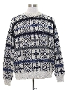 Mens Totally 80s Geometric Snowflake Sweater