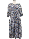 Womens Totally 80s Floral Print Dress
