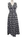Womens Mod Cocktail Knit Maxi Dress