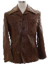Mens Leather Leisure Jacket