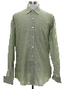 Mens Solid Mod French Cuff Shirt