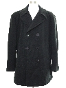 Mens Wool Pea Coat Jacket