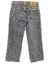 Womens Straight Leg Denim Jeans