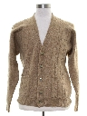 Mens Cable Knit Cardigan Sweater
