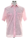 Mens Semi Sheer Sport Shirt