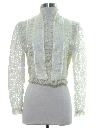 Womens Totally 80s Victorian Style Lace Shirt