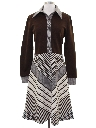 Womens Designer Mod Knit Dress