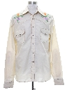 Mens Embroidered Hippie Style Western Shirt