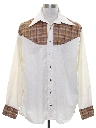 Mens Two Tone Hippie Style Western Shirt