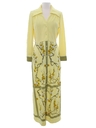 Womens Designer Hawaiian Maxi Dress