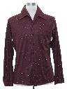 Mens Subtle Print Disco Shirt