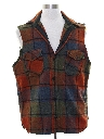 Mens Grunge Joe Dirty Style Cut Off Sleeveless Flannel Shirt