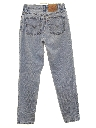 Womens Levis 550 High Waisted Relaxed Tapered Leg Denim Jeans Pants