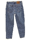 Womens High Waisted Levis 551 Relaxed Tapered Leg Denim Jeans Pants