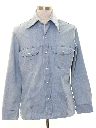Mens Denim Leisure Style Shirt Jacket