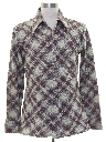 Mens Print Disco Style Cotton Blend Sport Shirt